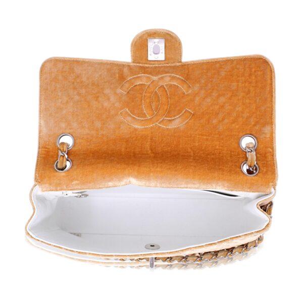 Chanel Classic Medium Retro Orange Velvet Le Chic