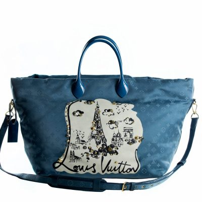 Louis Vuitton Nylon Monogram Nouvelle Vague Beach Bag Turchese Le Chic