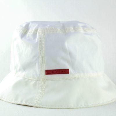 prada cappello da pescatore in tela tecnica talco lechic