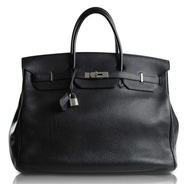 Hermès Birkin 40 Taurillon Clemence Nera Le Chic