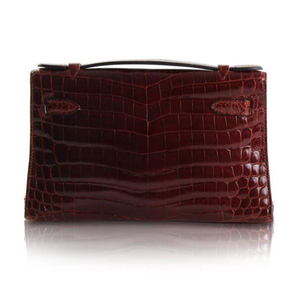 Hermès Kelly Pochette Crocodile Niloticus Rossa Le Chic