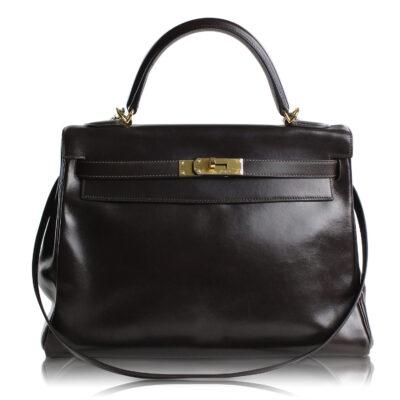 Hermès Kelly 32 Sellier Marrone Le Chic