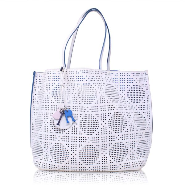 Dior Dioriva Perforated Cannage Bianca Le Chic