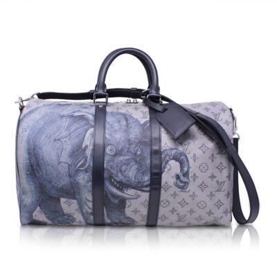 Louis Vuitton Keepall Bandoliere 45 Dune Savane Elephant Chapman Le Chic