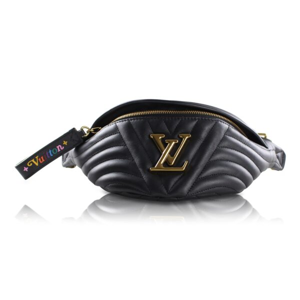 Louis Vuitton Marsupio New Wave pella nera Le Chic