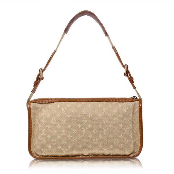 Louis Vuitton Pochette Mini Lin Kathleen Beige Monogram Le Chic