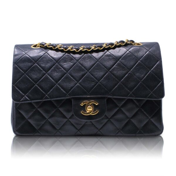 Chanel Classica 2.55 Media Nera Vintage Le Chic