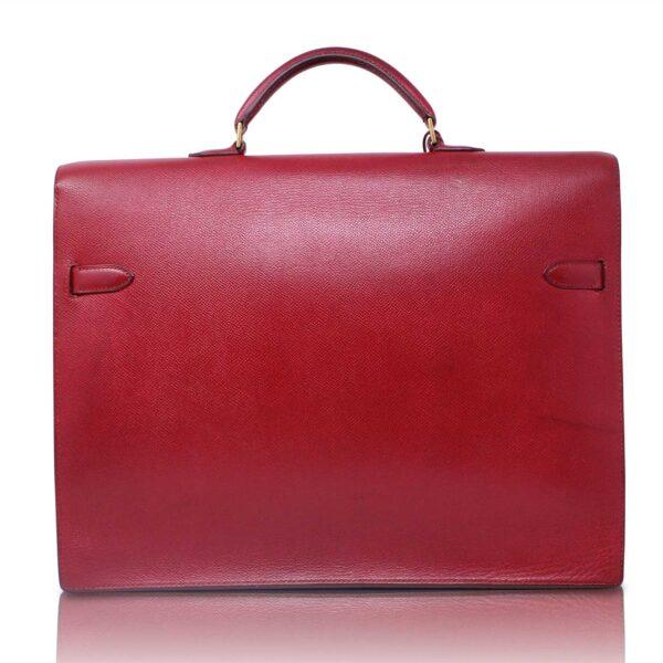 Hermès Cartella Kelly Depeche Rouge Vif Le Chic
