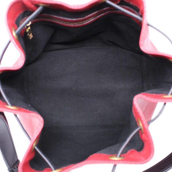 Louis Vuitton Petit Noé Epì Rosso Nero Le Chic