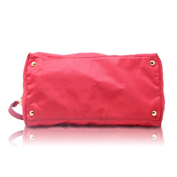 Prada Tote Bag Nylon Rossa Le Chic