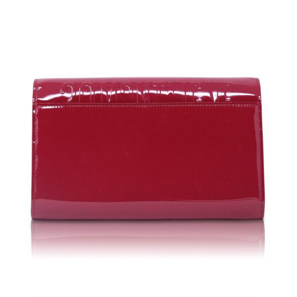 Dior Pounch Montaigne 30 Vernice Rosso Ciliegia Le Chic