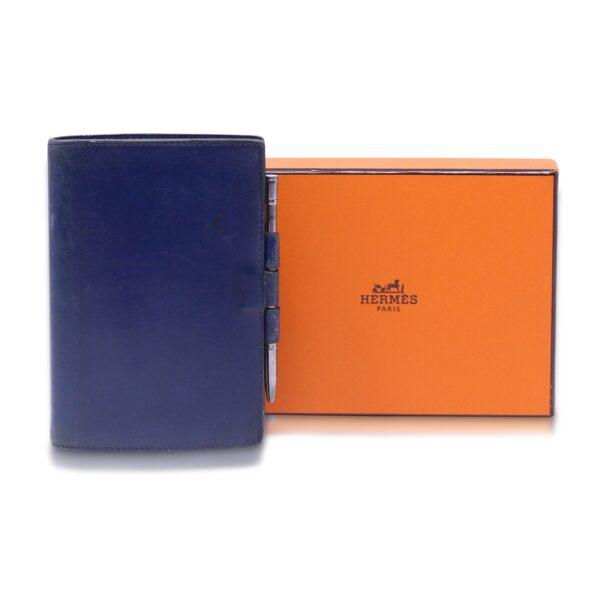 Hermès Porta Rubrica-Agenda Blu Le Chic