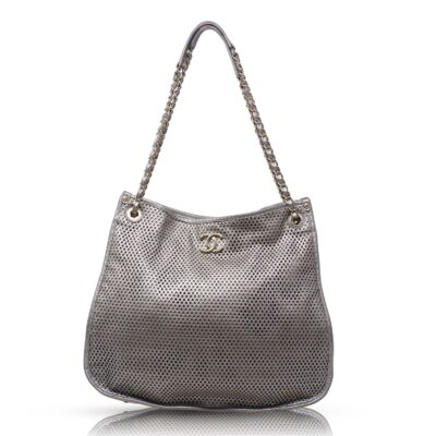 Chanel Perforated Up In The Air Tote Argento Le Chic