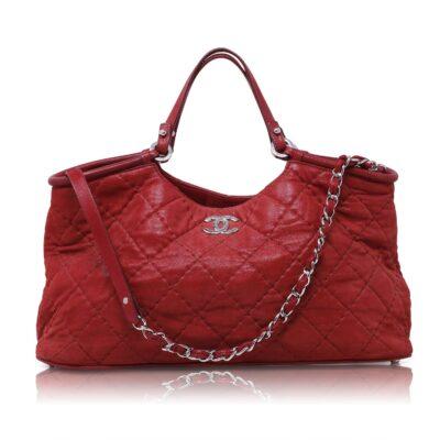 Chanel Sea Hit Iridescent Tote Rossa Le Chic