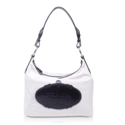 Prada Hobo Bag Nylon Bianca Le Chic